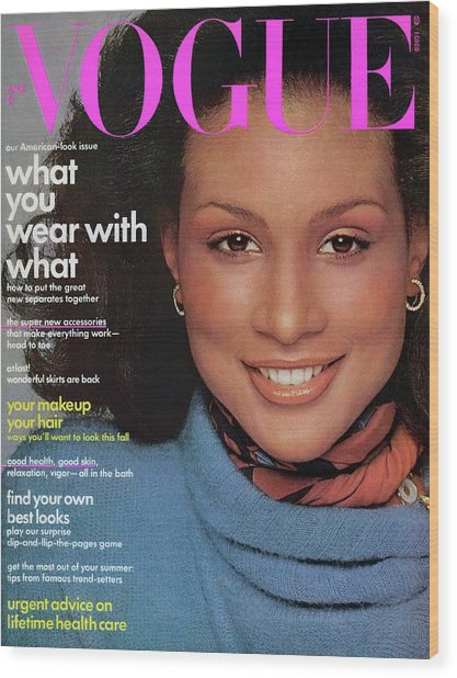 Vogue Cover Featuring Beverly Johnson Wood Print