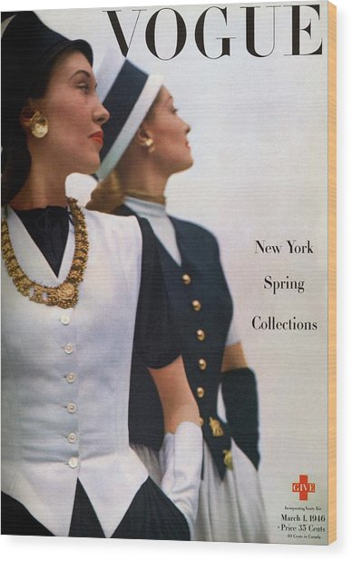 Vogue Cover Featuring Jean Sinclair Wood Print