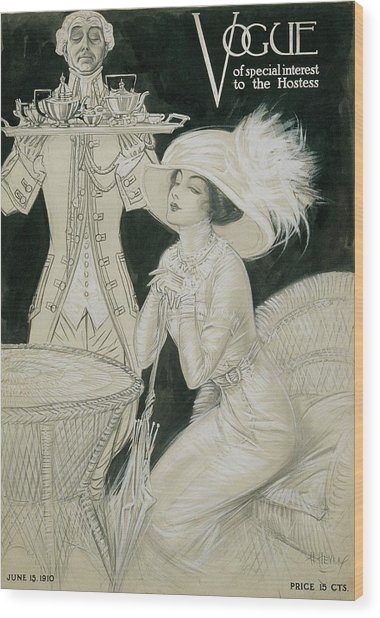 Vogue Cover Illustration Of A Valet Carrying Wood Print by H. Heyer