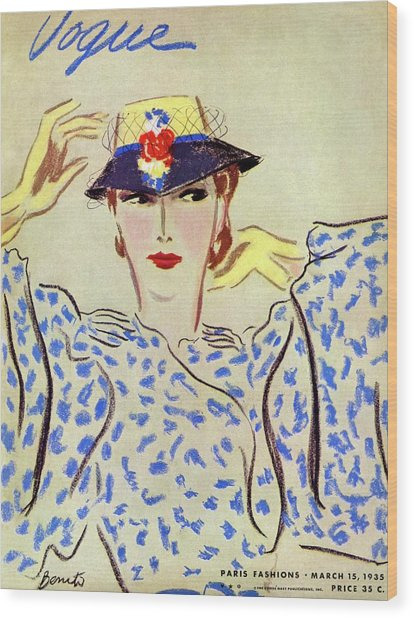 Vogue Cover Illustration Of A Woman by Eduardo Garcia Benito