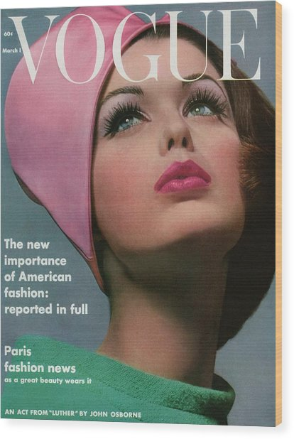 Vogue Cover Of Dorothy Mcgowan Wood Print