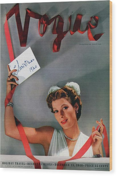 Vogue Cover Of Helen Bennett Wearing Tiffany & Wood Print by John Rawlings