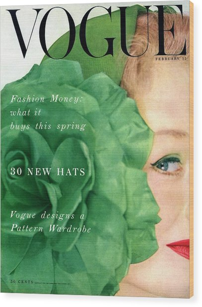 Vogue Cover Of Nina De Voe Wood Print