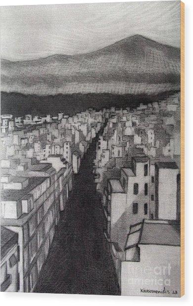 Void City Wood Print by Kostas Koutsoukanidis