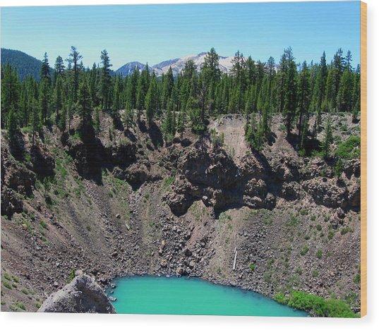 Volcano Lake Wood Print