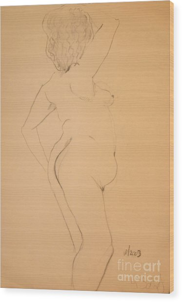 Voluptuous Nude Wood Print