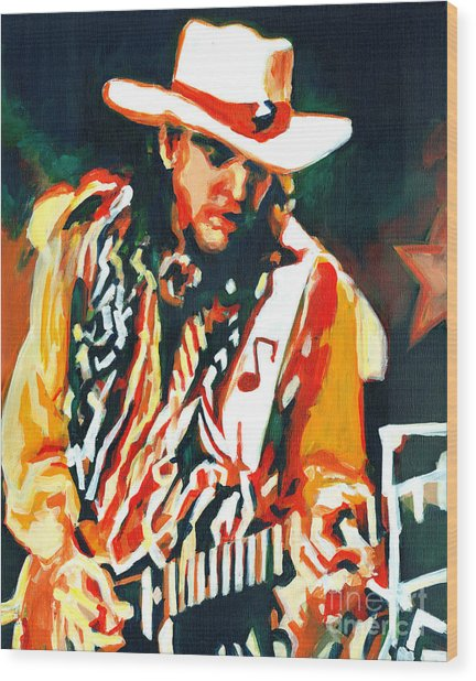 Voodoo Chile - Stevie Ray Vaughn Wood Print