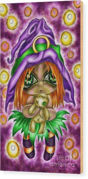 Voodoo Plushie Wood Print by Coriander  Shea