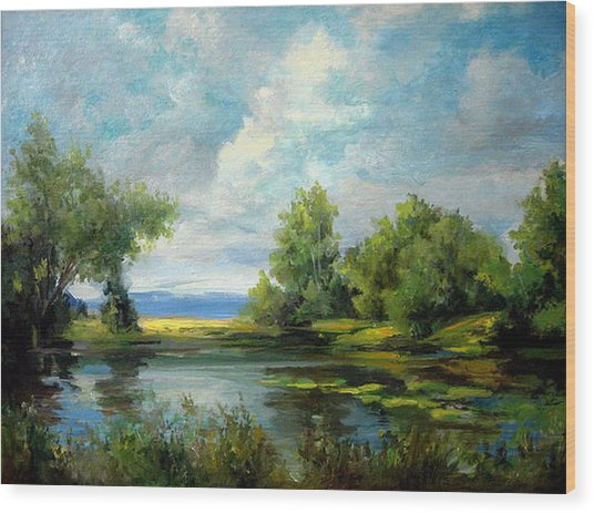 Voronezh River Beauty Wood Print