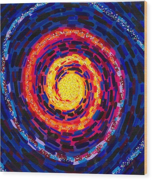 Vortex Wood Print by Patrick OLeary