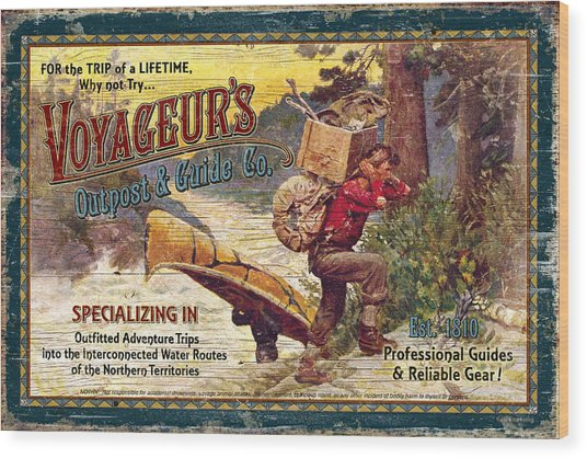 Voyageurs Outpost Wood Print