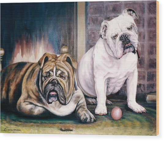V's Bulldogs Wood Print
