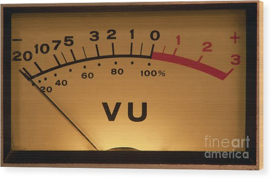 Vu Meter Illuminated Wood Print