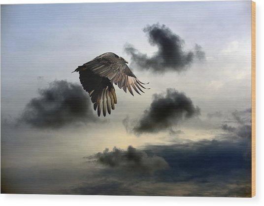 Vulture Sky Wood Print