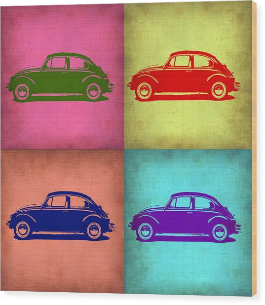 Vw Beetle Pop Art 1 Wood Print