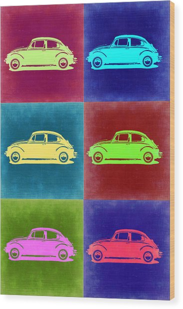 Vw Beetle Pop Art 2 Wood Print
