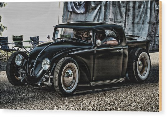 Vw Bug Wood Print