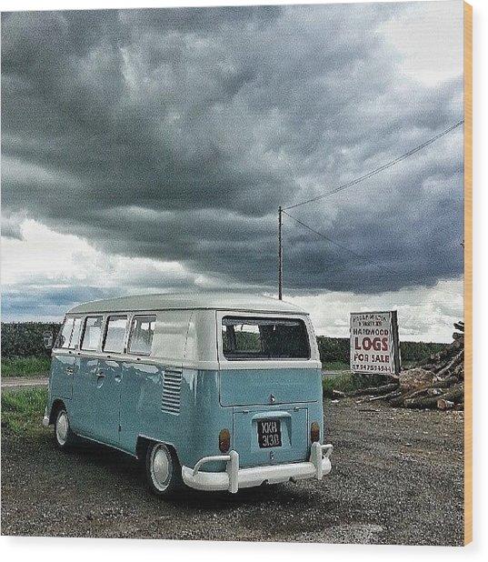 #vw #camper #bus #splitty #splitscreen Wood Print