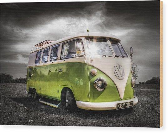 Vw Camper Van Wood Print