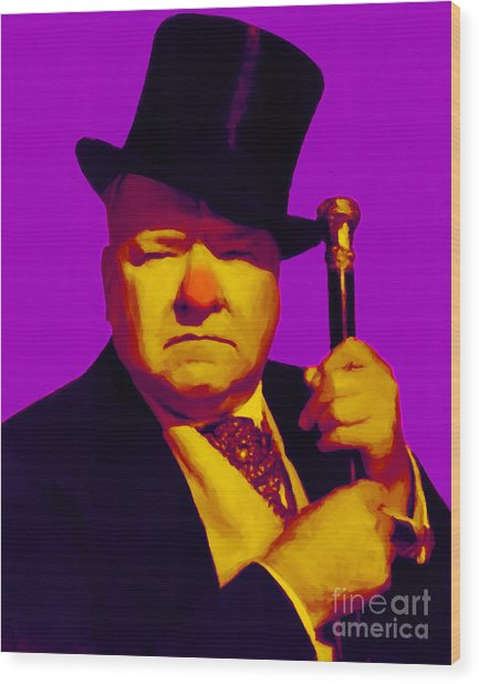 W C Fields 20130217m30 Wood Print by Wingsdomain Art and Photography