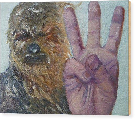 W Is For Wookie Wood Print