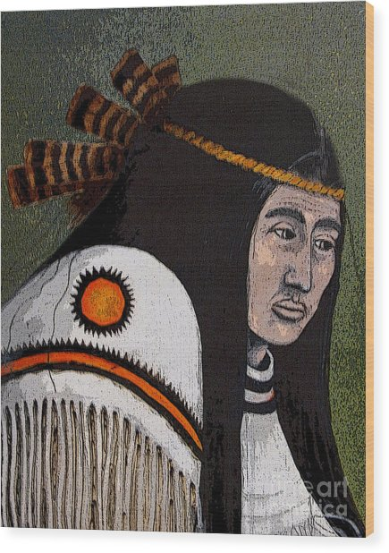 Wabanaki Warrior Wood Print