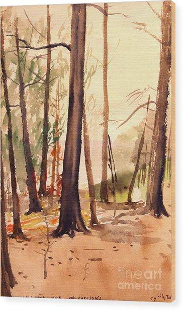 Wabigama Woods Wood Print