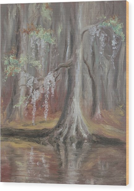 Waccamaw River Cypress Wood Print
