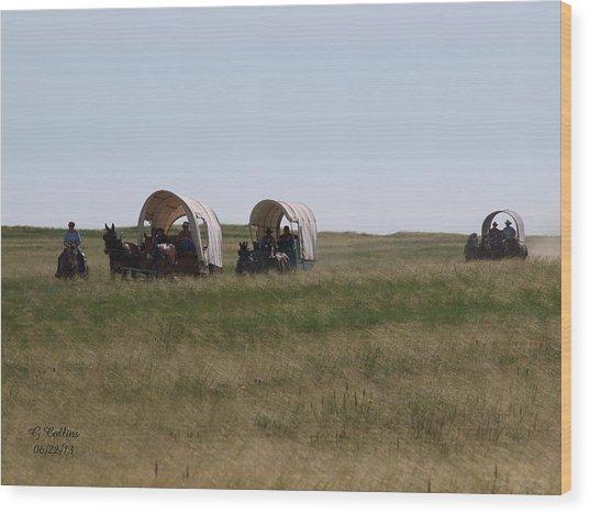 Wagons Ho Wood Print