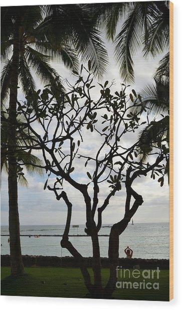 Waikiki Beach Hawaii Wood Print