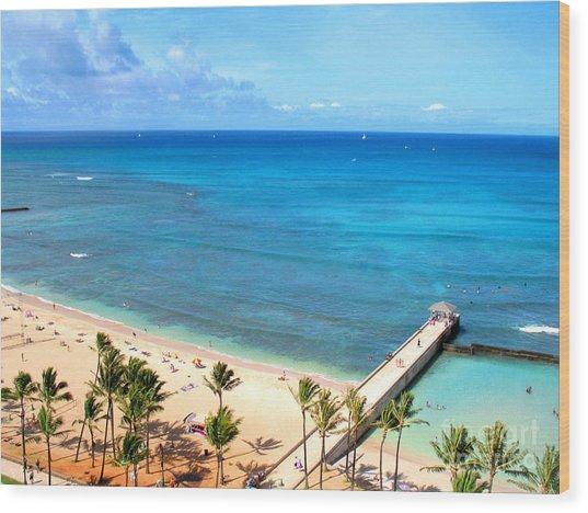 Waikiki Paradise Wood Print