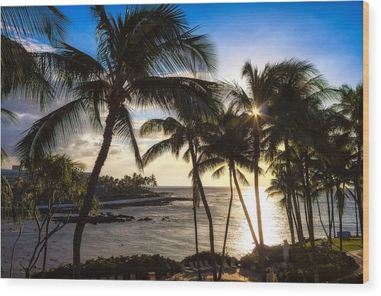 Waikoloa Sunset Wood Print