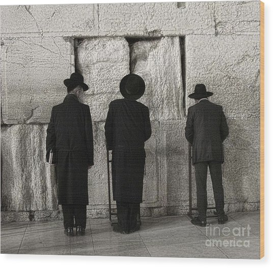 Wailing Wall Wood Print