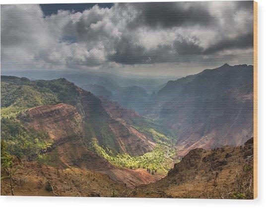 Waimea Canyon Kauai Wood Print by Sam Amato