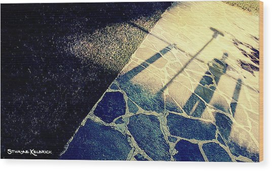 Wood Print featuring the photograph Wait In The Shade by Stwayne Keubrick