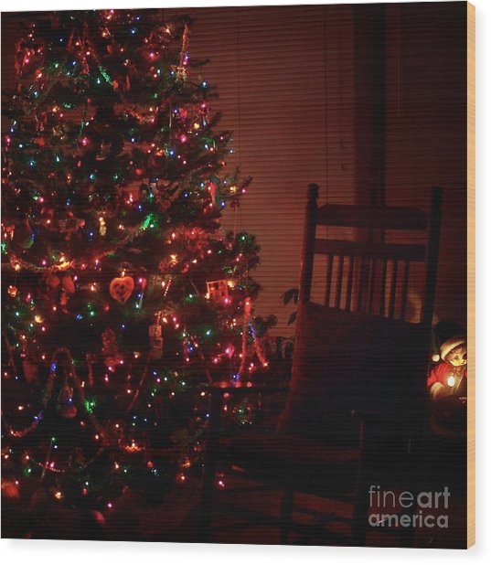 Waiting For Christmas - Square Wood Print