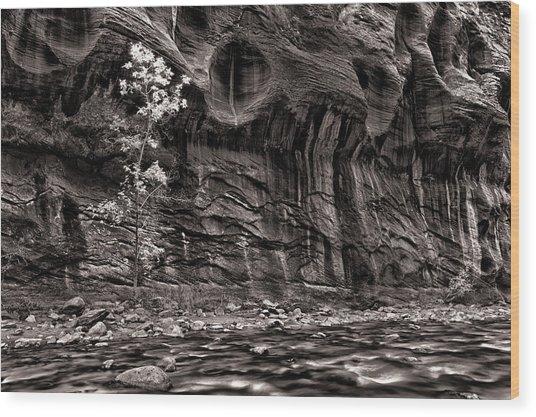 Waiting For The Next Flash Flood Wood Print by Juan Carlos Diaz Parra