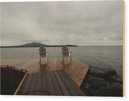 Waiting Wood Print by Ryan Hord