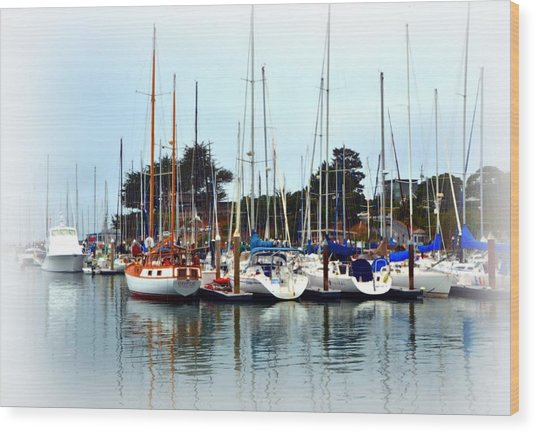 Waiting To Sail Santa Cruz Wood Print