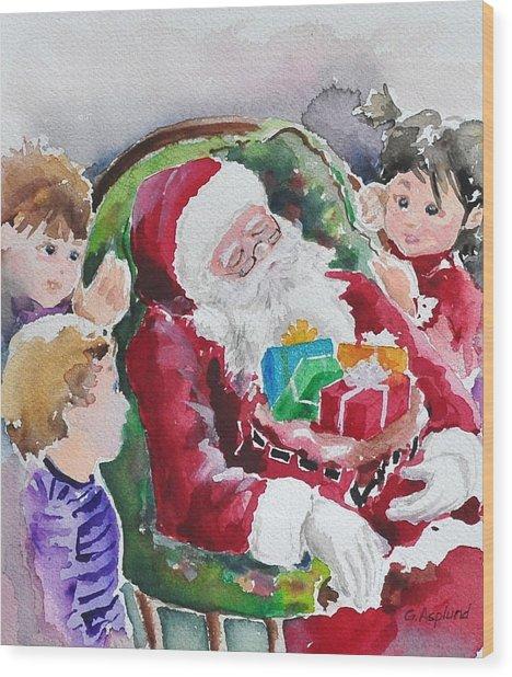 Waiting Up For Santa2 Wood Print