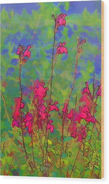 Wake Up Smell The Flowers Wood Print by Linda Phelps