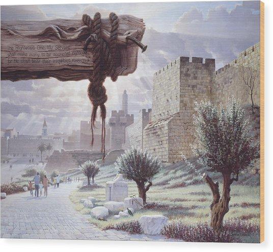 Walk In The Light  Jerusalem Wood Print