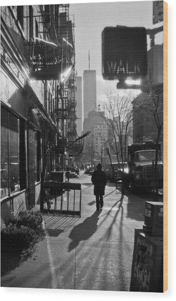 Walk Manhattan 1980s Wood Print
