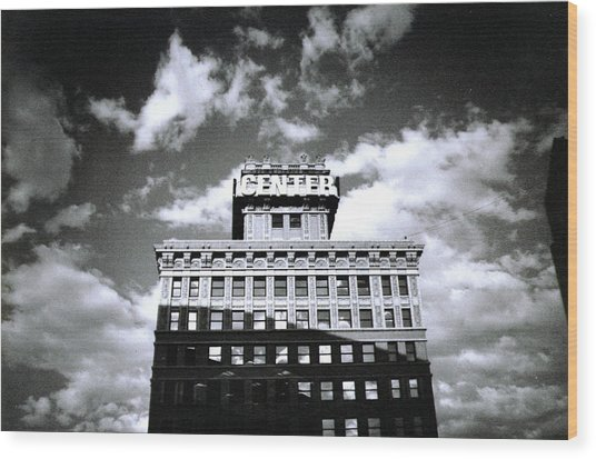 Walker Building Wood Print