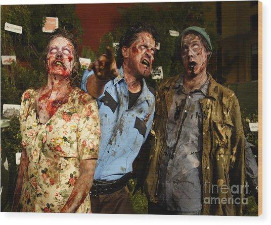 Walking Dead Wood Print