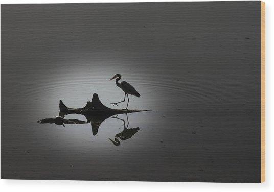 Walking On The Water Wood Print