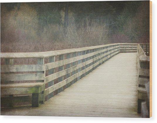 Walking Softly Wood Print