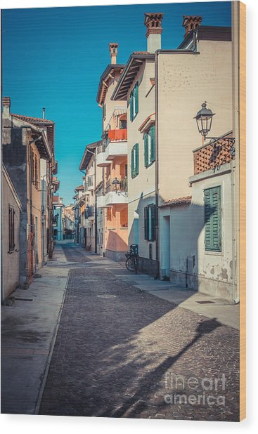 walking through Grado - through the past Wood Print