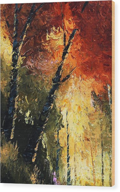 Walking With A Dream Wood Print