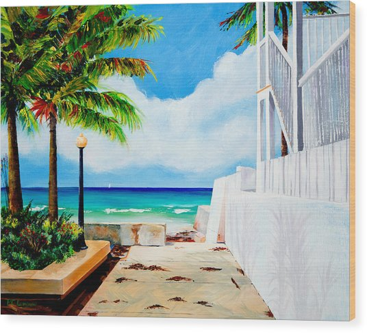 Walkway To Cuba Wood Print